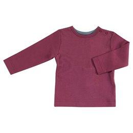 Langarmshirt mit Druckknöpfen bordo pink