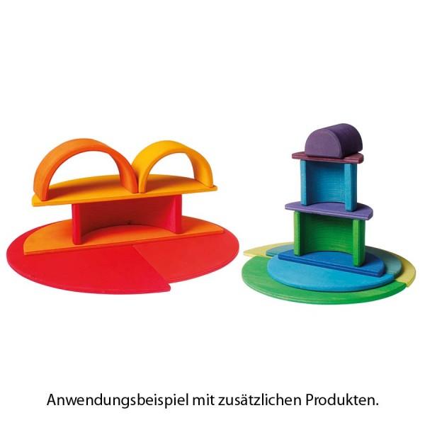 Halbkreise Platten Regenbogen Set