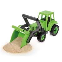 Vorschau: Traktor Kunststoff Holz Gemisch - verzinkte Stahlachsen