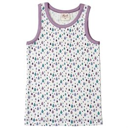 Mädchen Unterhemd lila Tropfen