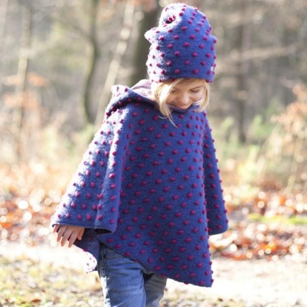 Elegante Kinder Wintermütze ohne Band lila