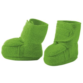 Warme Babyschuhe Klettverschluss Stoppern grün