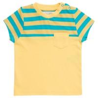 Bio Jungen T-Shirt mit Brusttasche gelb