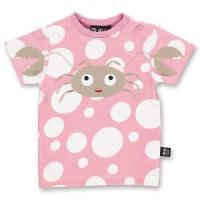 Bio Babyshirt hochwertig süsse Krabbe rosa