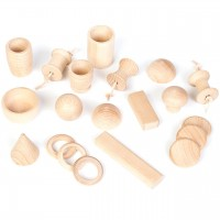 Treasure basket 20 Holzteile - ab 10 Monaten