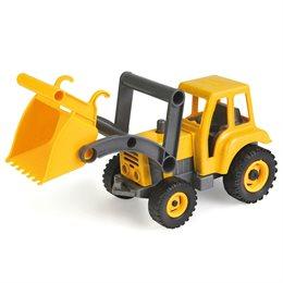 Traktor Kunststoff Holz Gemisch - verzinkte Stahlachsen