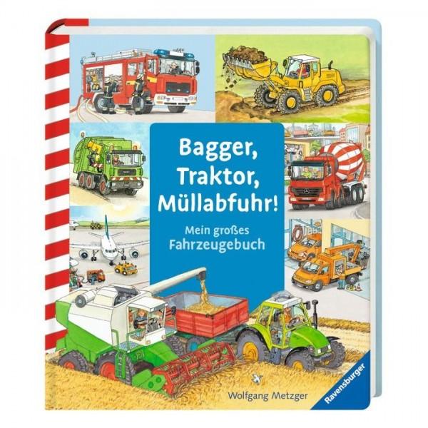 Bagger, Traktor, Müllabfuhr - Fahrzeug Bilderbuch