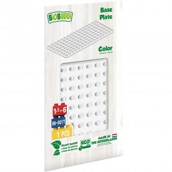 Bauplatte für Stecksteine – Basisplatte weiß 15x30 cm