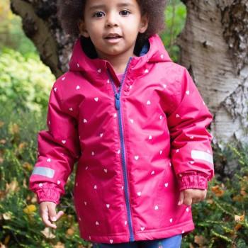 Dickere Herbstjacke-Regenjacke Herz pink
