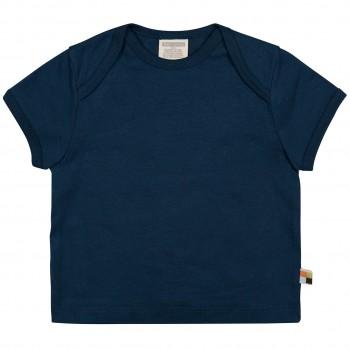 Leichtes Uni Kurzarm Shirt Basic in dunkelblau