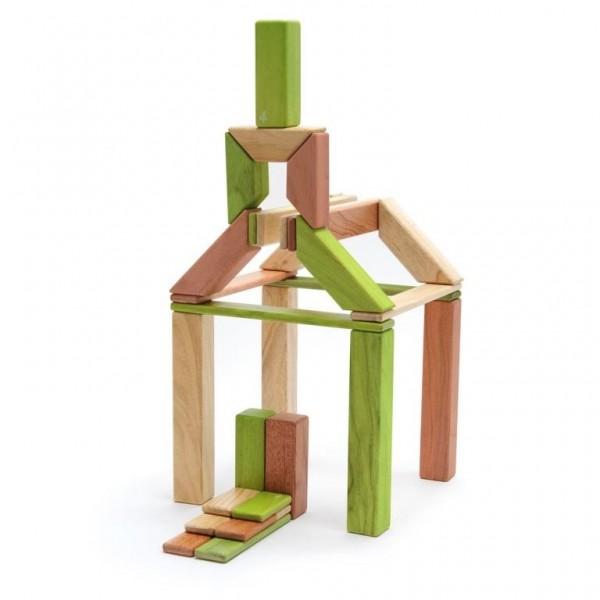 Magnet-Holzbauklötze- Explorer-Set Jungle 40-teilig
