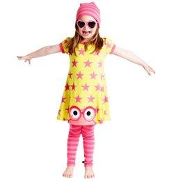 Kleinkind Sommerkleid Sterne - gelb