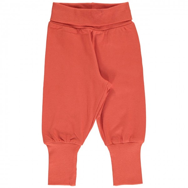 robuste Hose mit Bündchen in kräftigem orange