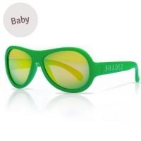 Baby flexible Sonnenbrille 0-3 Jahre uni grün polarisiert