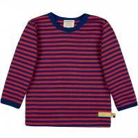 Weiches Shirt langarm Ringel in dunkelblau/rot