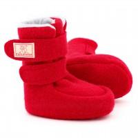 Puschen Walk mit Klettverschluss rot