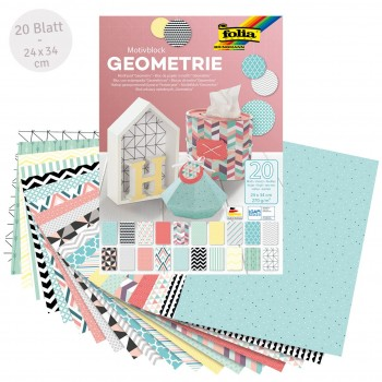 Motivblock Geometrie – Motivkarton 20 Blatt