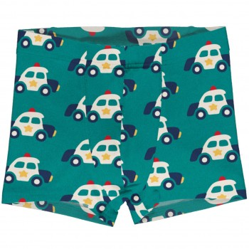 Boxershorts Polizeiautos in petrol