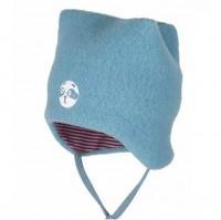 Warme Wintermütze mit Bindemöglichkeit - pastell cloud blau