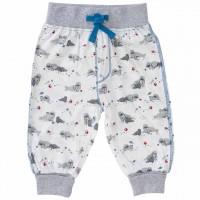 Leichte Babyhose Sommer blau Robben Print