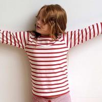Edles Shirt weiß-rot gestreift