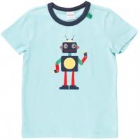 Shirt kurzarm Roboter Aufnäher