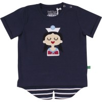 Cooles Mädchen Shirt Seefrau hinten länger