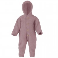 Woll Fleece Overall mitwachsend rosenholz