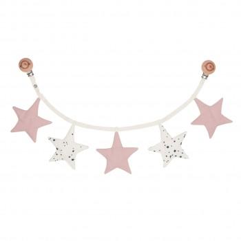 Kinderwagenkette Sterne in rosa