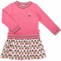 Sweatkleid mit Flanellpatch pink-rosa