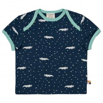 Kurzarm Shirt Krokodile dunkelblau