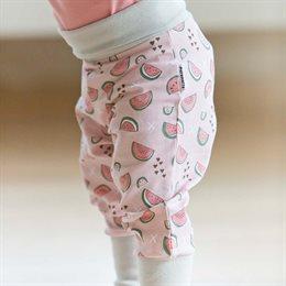 Mitwachsende süsse Babyhose zartrosa Wassermelone