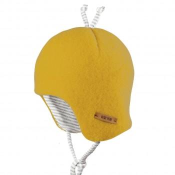 Baby Wintermütze beliebter Klassiker gelb