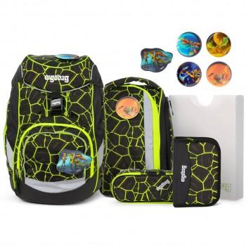 Lumi Schulrucksack pack flexibel DrachenfliegBär 6 tlg