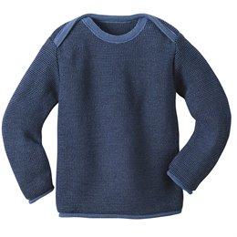 Melange-Pullover 100% Merino Schurwolle