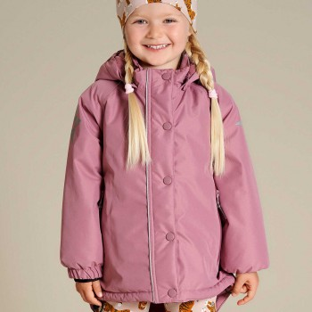 Warme Winterjacke in hellem lila