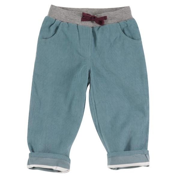 Wendehose Cord Jersey super weich und warm pastellblau