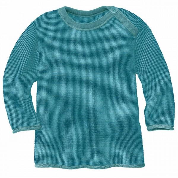 Pullover Baby Schurwolle in türkis