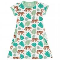 Süsses Jungle Tiger Kleid kurzarm in hellgrün