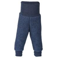 Woll Fleece Hose Softbund blau marine