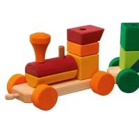 Vorschau: Bunter Zug 25-tlg. zum Ziehen und Stapeln der Bauklötze