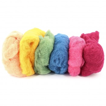 Filzwolle zum Nassfilzen – 6 Farben 300 g