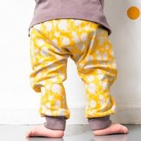 Bündchen Babyhose in gelb