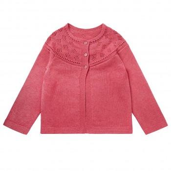 Mädchen Strickjacke in pink
