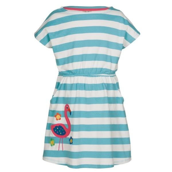 frugi Sommerkleid Flamingo mit Taschen