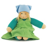 Bio Puppe Lotti mit Haaren & ausziehbarer Kleidung