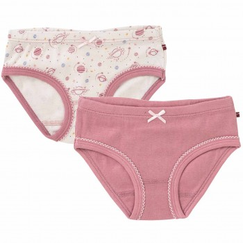 Doppelpack Mädchenslips hellrosa + rosé