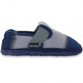 Kita oder Hausschuhe mit super weichen Sohle grau-blau