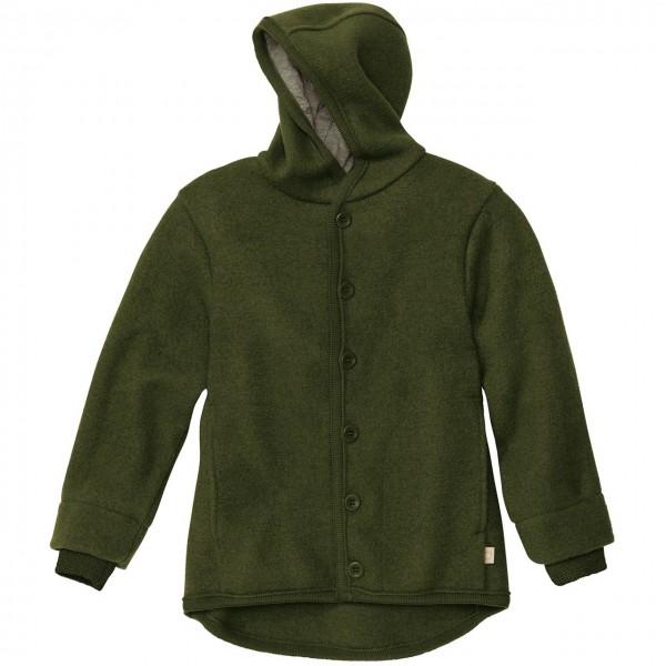 Walk-Jacke mit Knopfleiste in oliv-grün