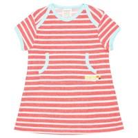 Robustes leichtes Kleid Streifen rot